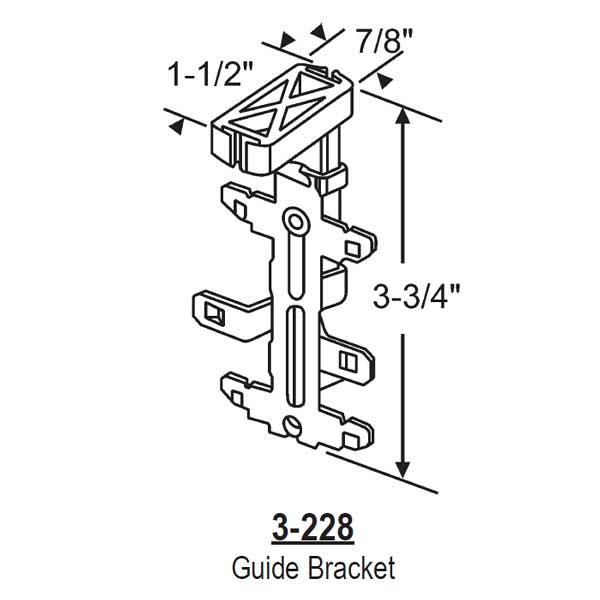 Closet Door Guide Bracket 3-228 1