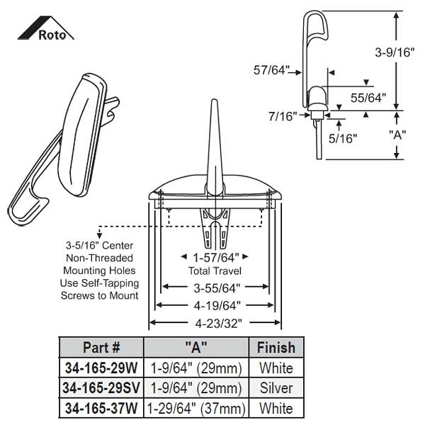 Multi-Point Locks 34-165-29W 1