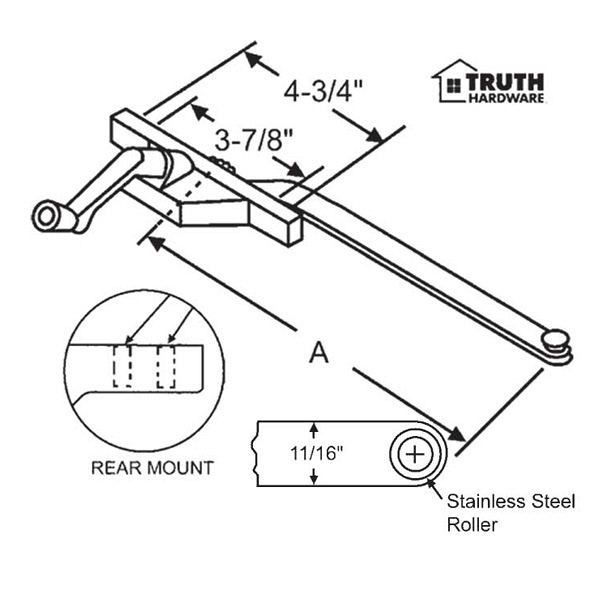 Rear Mount Casement Operator 36-224-13 1