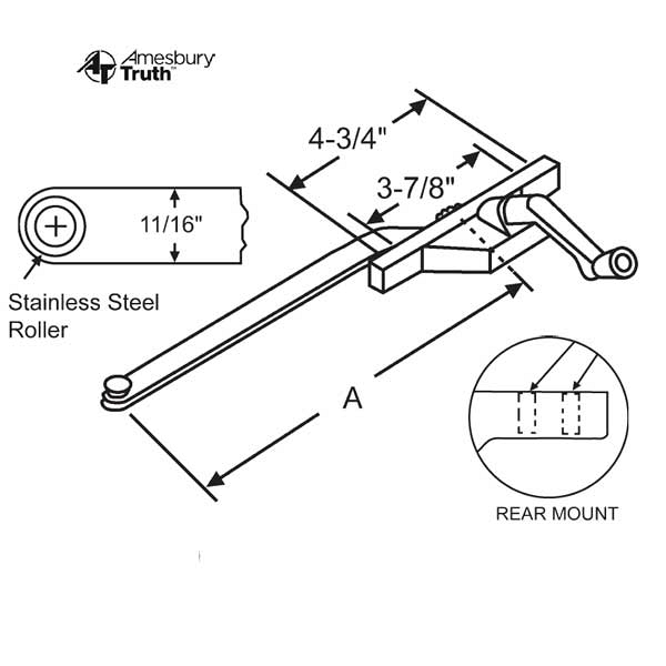 Rear Mount Casement Operator 36-227-8 1