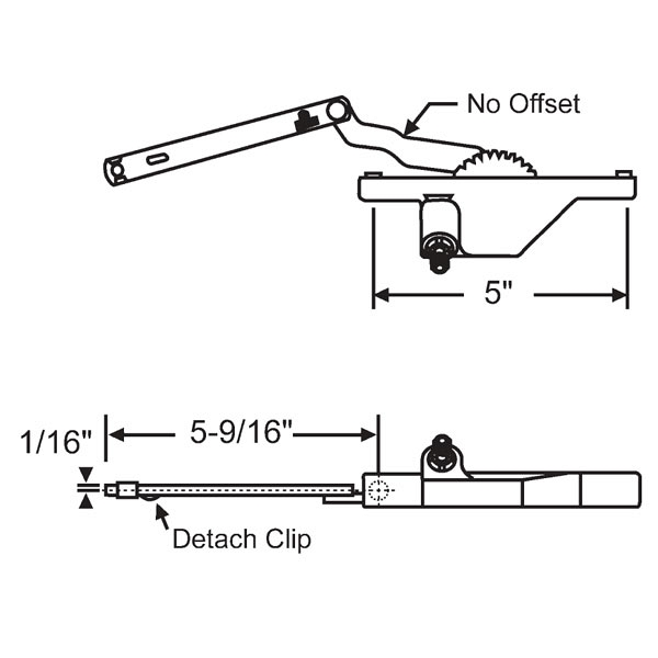 Rear Mount Casement Operator 36-244-8 1