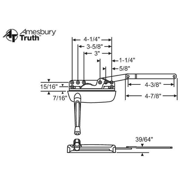 Sill Mounted Casement Operator 36-371-3 1