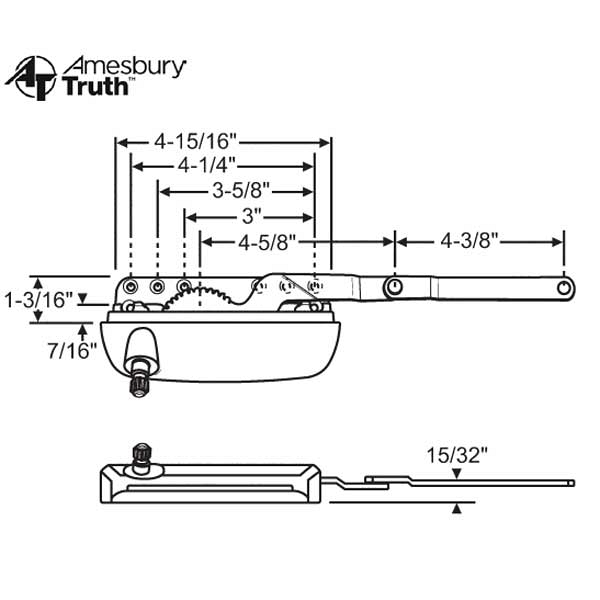 Sill Mounted Casement Operator 36-556-3 1