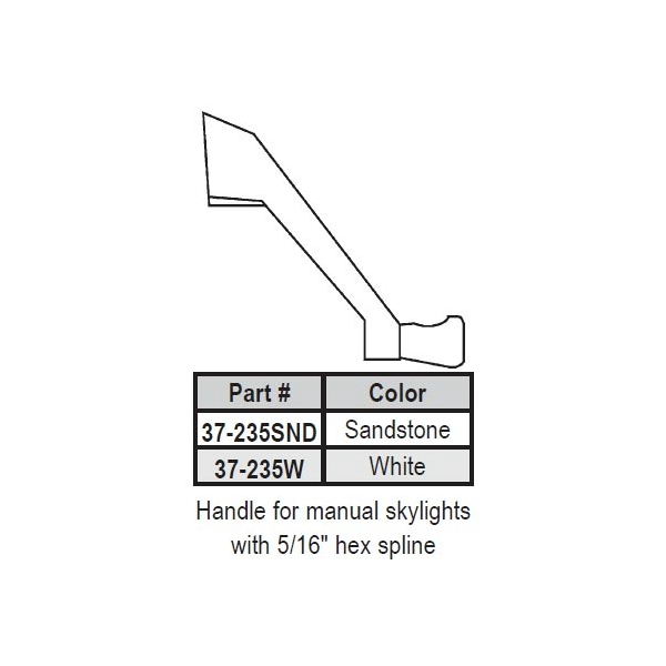 Skylight Operator Crank Handle 37-235SND 1