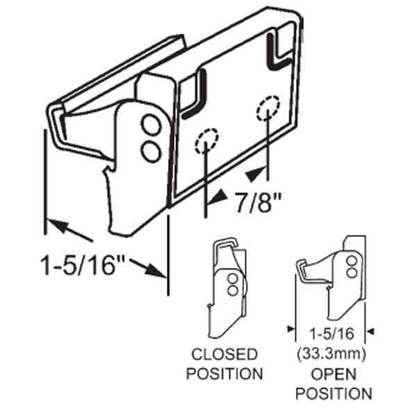 Check Rail Lock 50-355-1 1