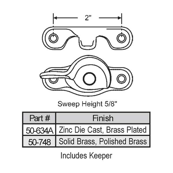 Sweep and Sash Lock 50-634A 1