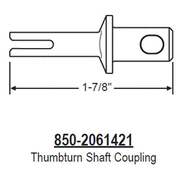 Hoppe thumb turn shaft coupling. Hoppe part number 2061421 1