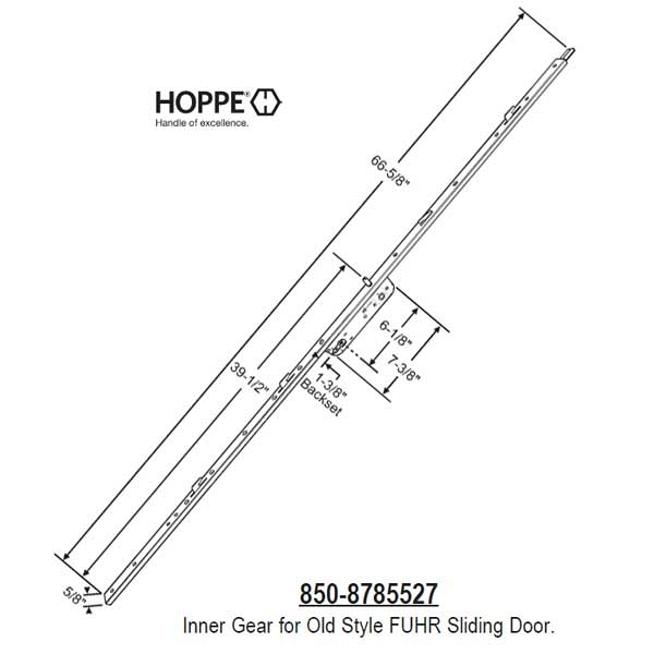 Hoppe Fuhr Sliding Door Multipoint 8785527 850 8785527