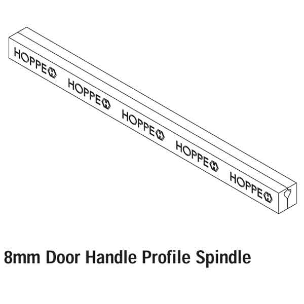 Hoppe 95mm x 8mm  Handle Spindle 665556 2