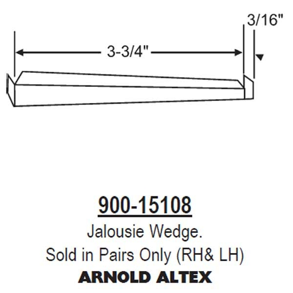 Jalousie Wedge 900-15108 1