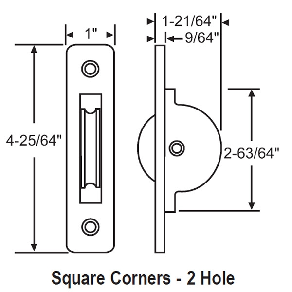 Square Corner Brass Pulley 96-MT5 1