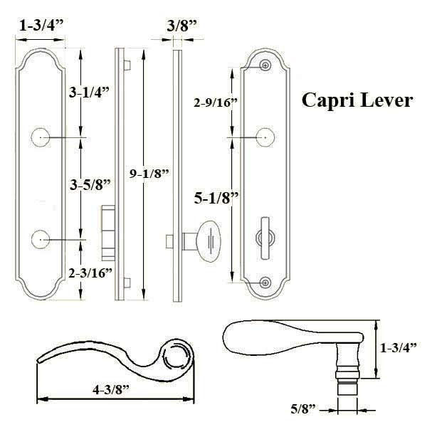 Capri Active Handle Set 854-16011 2
