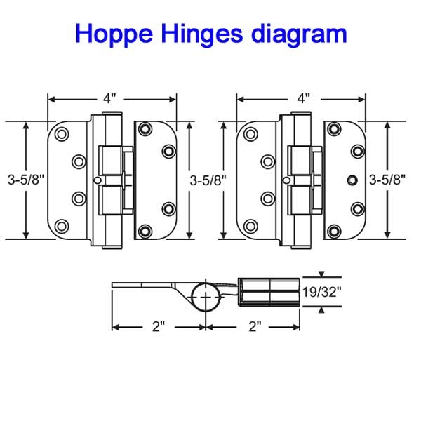 Hoppe Guide Hinges 850-2664572 1