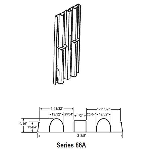 "Non Tilt jambliner 86A Series for 1-3/8"" Sash. 1"