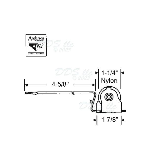Strybuc Screen Door Roller 750 1997063 750 1997063