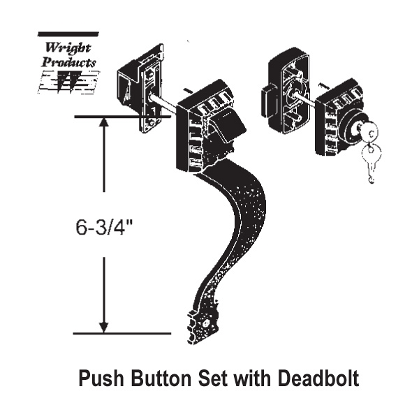 Wright Products Push Button Latch 900 13554k 900 13554k