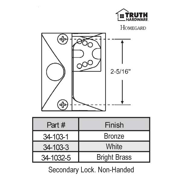 Casement Handle 34-103-3 1