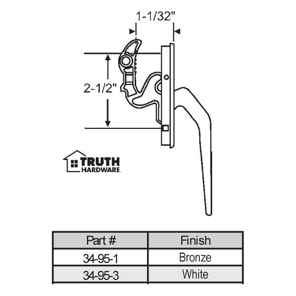 Casement Handle 34-95-1 1