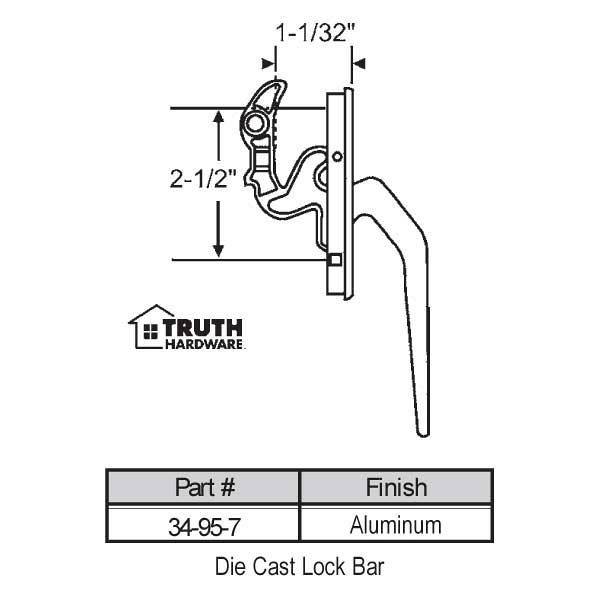Casement Handle 34-95-7 1