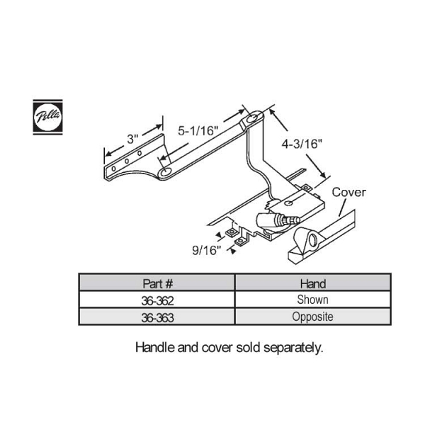 Sill Mounted Casement Operator 36-363 1