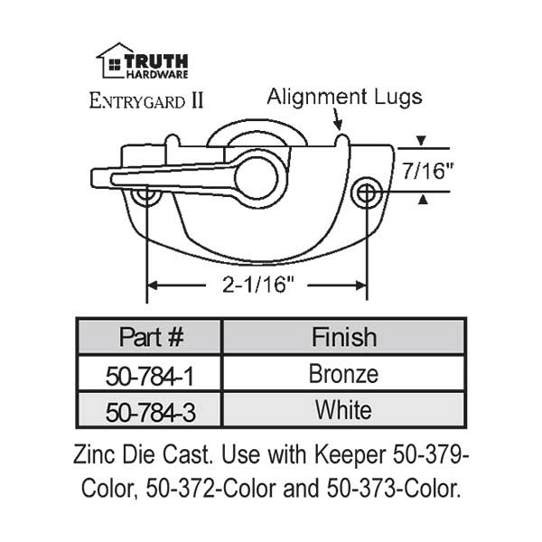 Sweep and Sash lock 50-784-1 1