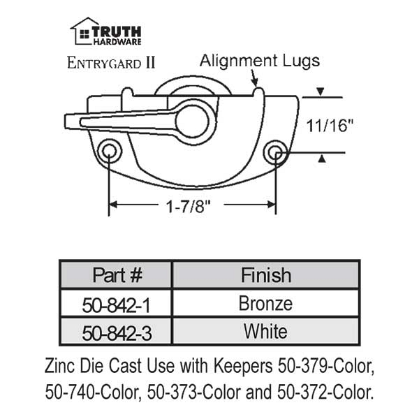 Sweep and Sash lock 50-842-3 1