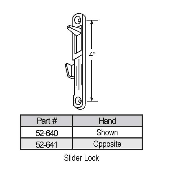 Latches-Spring Type Slider 52-641 1