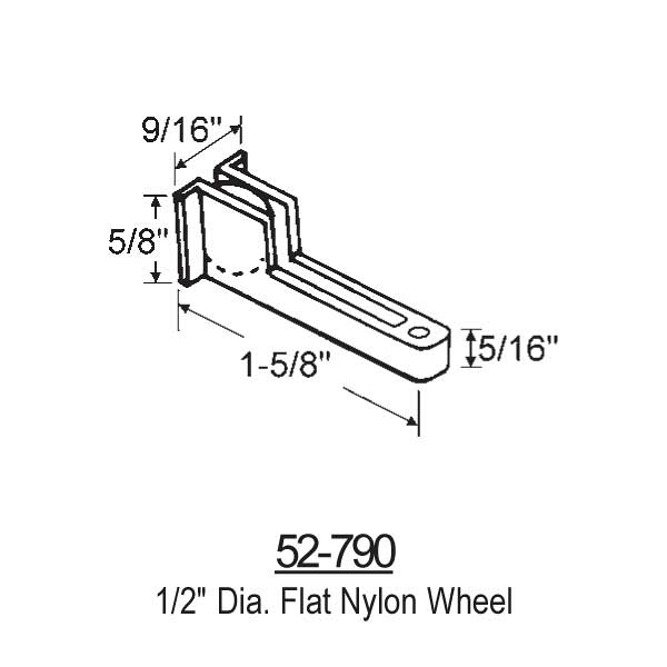 Sliding Window Rollers 52-790 1