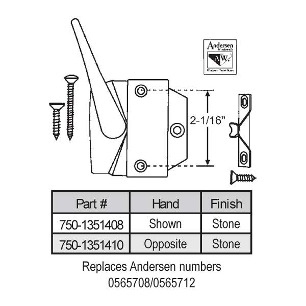 Casement Handle 750-1351410 1