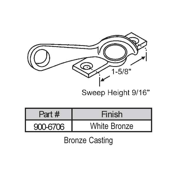 Sweep and Sash locks 900-6706 1