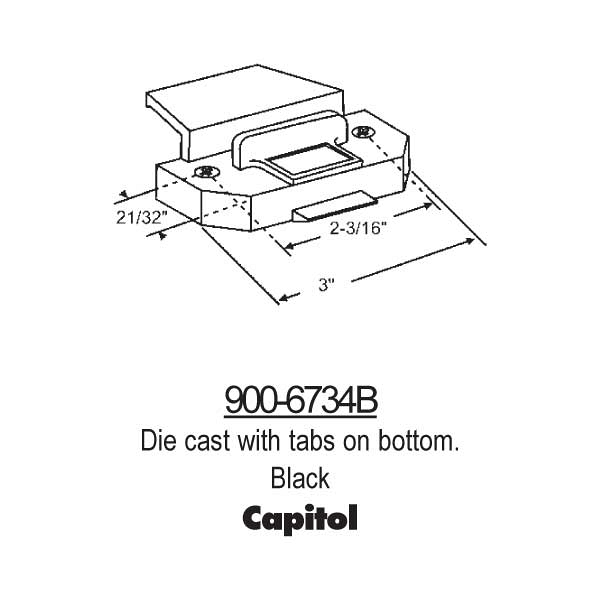 Latches-Spring Type Slider 900-6734B 1