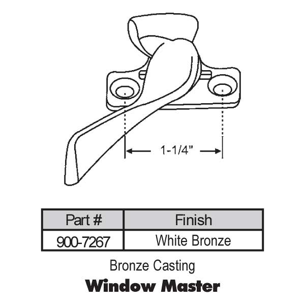 Sweep and Sash locks 900-7267 1