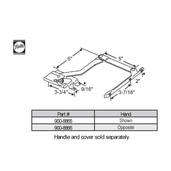 Sill Mounted Casement Operator 900-8866 1