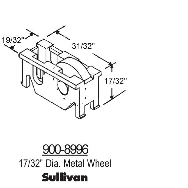 Sliding Window Rollers 900-8996 1