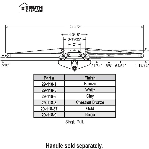 Truth Awning Operator 29-118-3 1