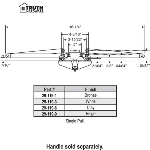 Truth Awning Operator 29-119-6 1