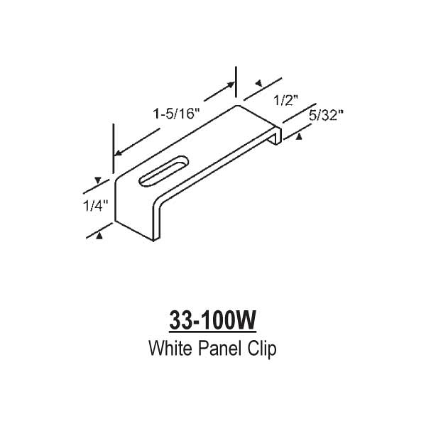 White Jalousie Panel Clip 33-100w 1