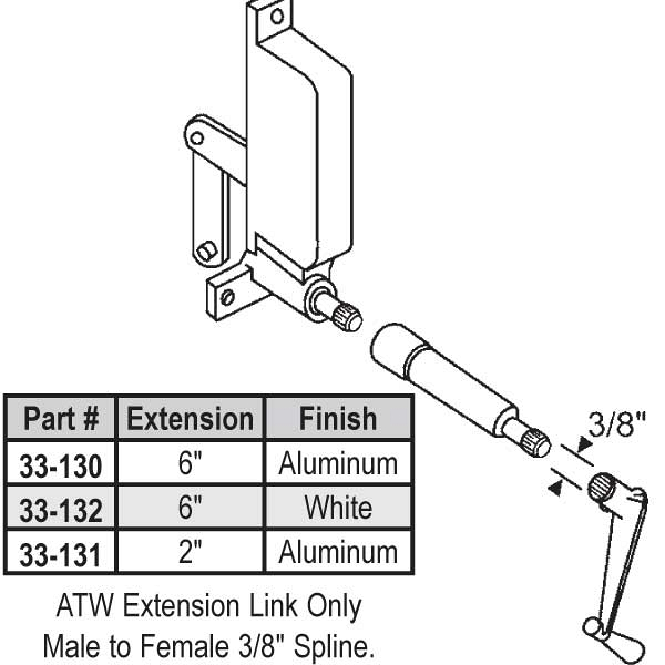 ATW Ext 2 inch  Length Al 33-131 1