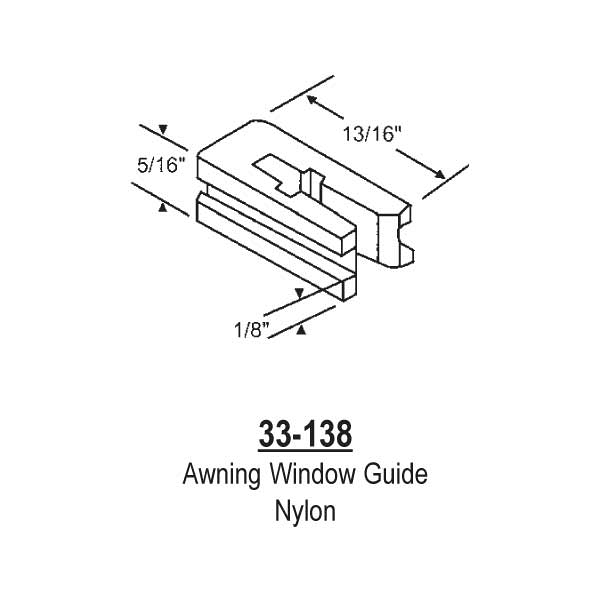 Awning Window Nylon Guide 33-138 1