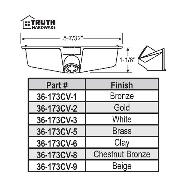 Truth Hardware Cover Model Number 36 173cv 3 36 173cv 3