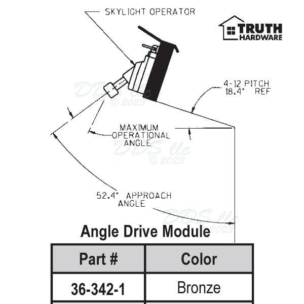 Skylite Operator Angle Drive 36 342 1 1