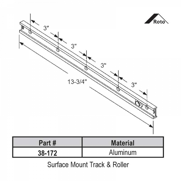 Surface Mount Track-Roller 38-172 1