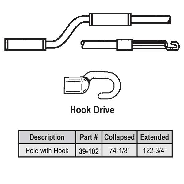 6-10 ft Hook Telescoping Pole 39-102 1