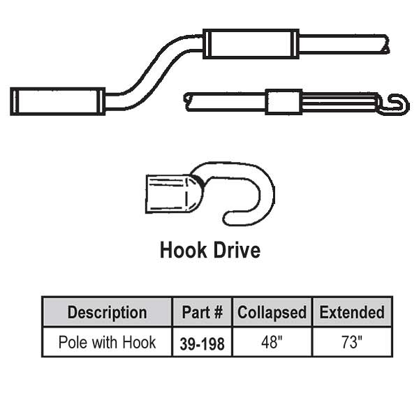 4-6ft Hook Telescoping Pole 39-198 1