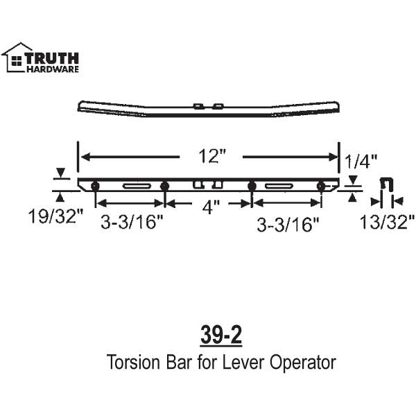 Torsion Bar for Lever Operator 39-2 1