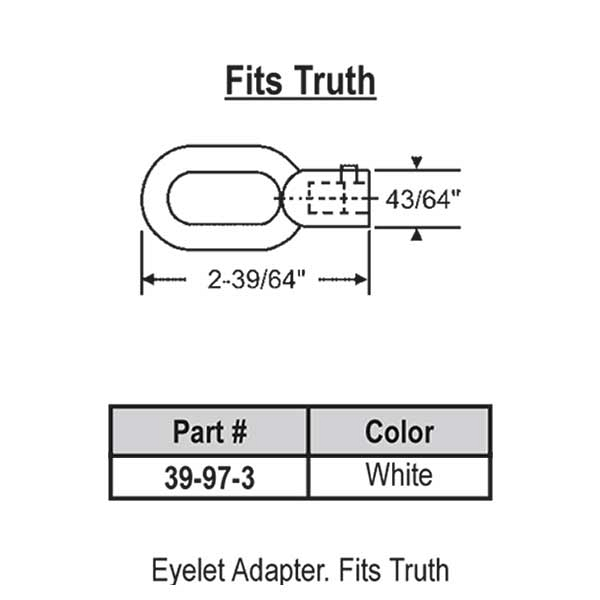 Eyelet Adapter White 39-97-3 1