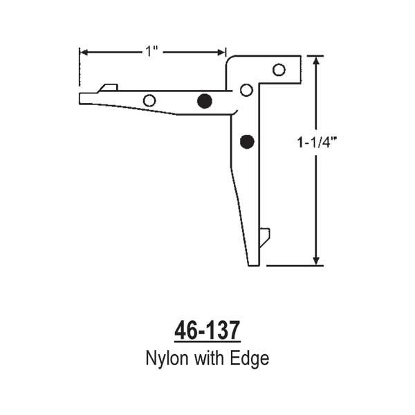 Nylon Corner Key W/Edge  46-137 1