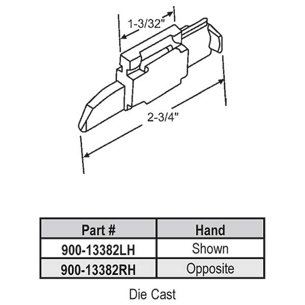 Storm Window Latch 900-13382LH 1