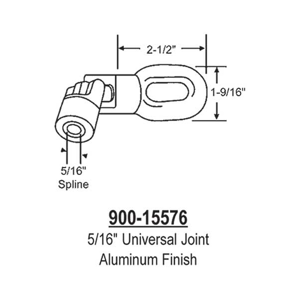 5/16 inch Universal Joint 900-15576 1
