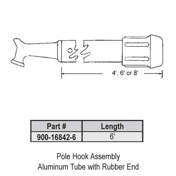 6ft  Pole Hook Assembly 900-16842-6 1